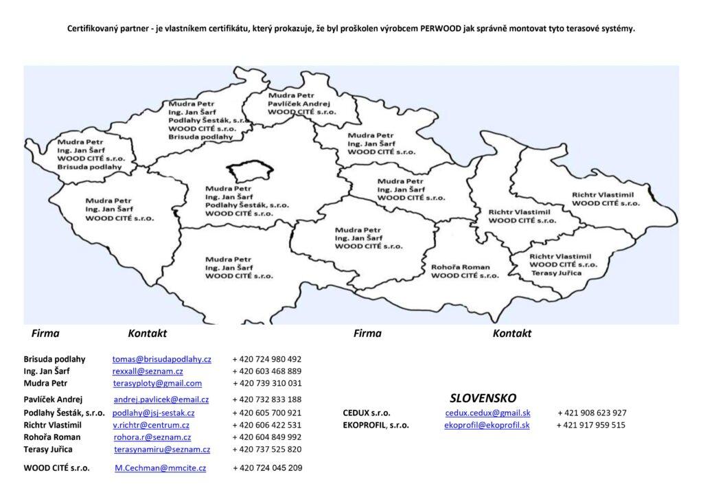Seznam montážních partnerů 18.7.2021